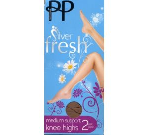 Pretty Polly Silver Fresh Knee Highs (support factor 8) EL64
