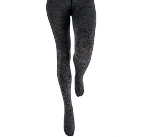 Fashion Melange Fleece Tights From Couture