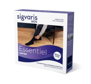 Sigvaris Essential Coton (Instinct) Compression Below Knee for Men (20-36mmHg) AFNOR Class 3