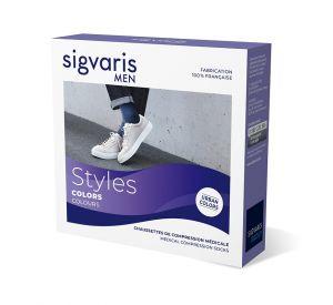 Sigvaris Style Colours Below Knee Socks for Men (15-20mmHg)  AFNOR Class 2