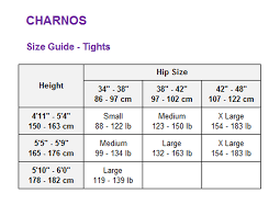 Charnos Size Chart