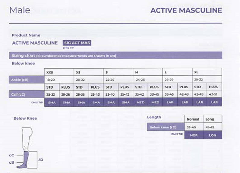 Sigvaris Active Masculine